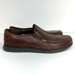 Ugg Colston Men's Shoes Size 9 Brown Leather Loafers Wool Insoles 1006718